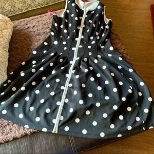 Betsey Johnson Black & White Polka Dot Dress